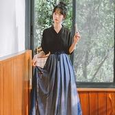 古裝漢服女夏季仙氣學生中國風現代超仙飄逸民國古風改良版洋裝 幸福第一站