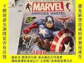 二手書博民逛書店英文原版:*Marvel罕見奇蹟 Heroes Unite 英雄