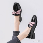 英倫風軟妹小皮鞋女2019秋季新款黑色學生jk單鞋潮 XN5066『pink領袖衣社』