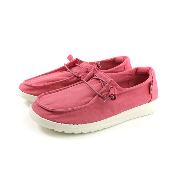 Hey Dude 休閒鞋 帆船鞋 帆布 女鞋 莓紅色 HD2001-844 no009