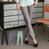 加大尺碼--簡潔俐落感口袋排釦裝飾西裝褲(黑.灰.綠XL-7L)-P98眼圈熊中大尺碼◎
