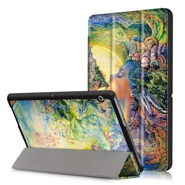 華為 Mediapad T3 平板皮套 保護套 彩繪三折 平板套 10.0吋 華為暢玩平板 9.6吋 保護殼 外殼