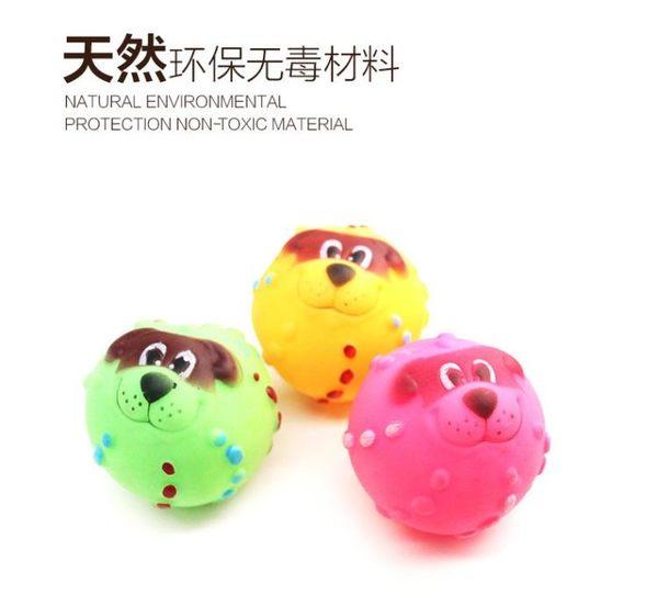 【狐狸跑跑】泰迪貴賓狗狗玩具球 發聲玩具球 響聲 磨牙發聲逗貓狗球寵物WJ000300