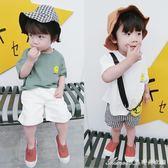 男童短袖女童t恤裝新款韓版寶寶體恤嬰兒上衣兒童半袖衣服艾美時尚衣櫥