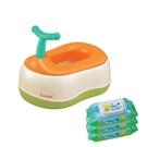 康貝 Combi 優質三階段訓練便器 贈Kuma Kun超純水嬰兒柔濕巾80抽促銷組〔衛立兒生活館〕