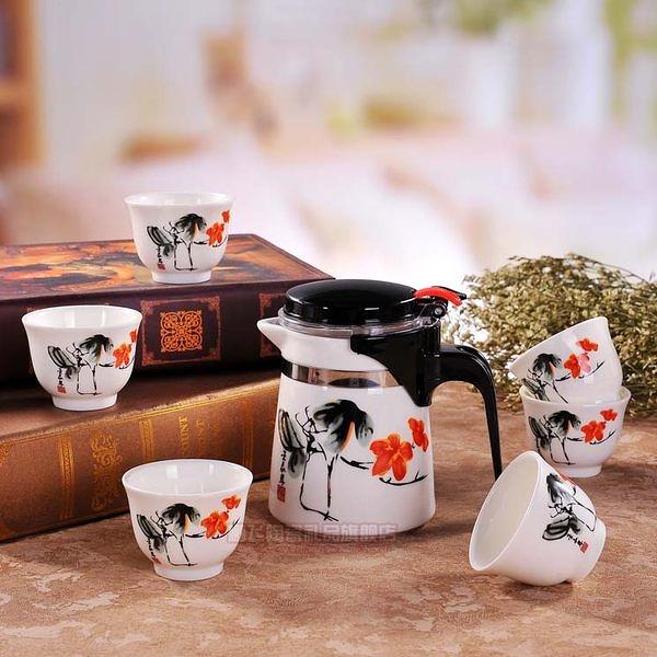 景德鎮陶瓷青花瓷咖啡壺 (一套)