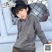 男童打底衫 秋冬季新款男童裝套頭連帽T恤外套潮兒童上衣袋鼠袋打底衫 快樂母嬰
