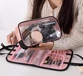 抖音同款化妝包手提洗漱包便攜多功能收納袋隨身少女心化妝包 向日葵