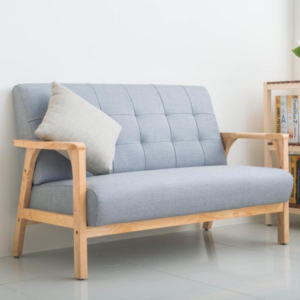沙發/傢俱/北歐款  維也納 實木仿貓抓皮雙人沙發 四色可選 dayneeds