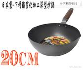 日本製-下村企販/窒化加工/深型炒鍋/鐵鍋/鑄鐵炒鍋/20cm-66730