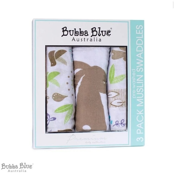 Bubba Blue 多用途紗布巾三入組 烏托邦兔