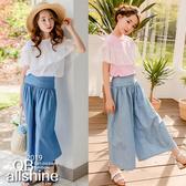 女童上衣 甜美花邊網紗造型短袖T恤 韓國外貿中大童 QB allshine