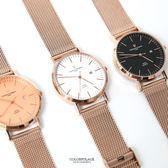 范倫鐵諾˙古柏 玫金簡約米蘭錶【NEV54】原廠公司貨