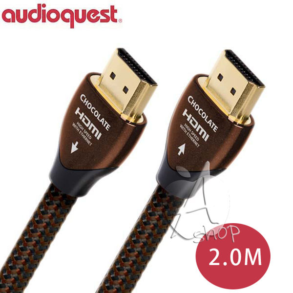 "【A Shop】美國 Audioquest HDMI  Chocolate 數位線 2M"" 支援4K 3D"""