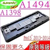 APPLE A1494 電池(原裝等級)-蘋果 A1398,2013年末~2014年中,EMC 2674,EMC 2745,EMC 2876,EMC 2881