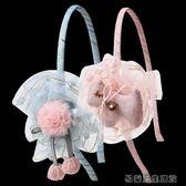 兒童發箍發飾布藝大花朵發卡
