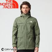 【The North Fac 男 DV防水外套《軍綠》】3CIQ/防水外套