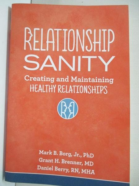 【書寶二手書T1/兩性關係_J94】Relationship Sanity: Creating and Maintaining…