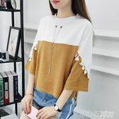 短袖T恤夏裝少女正韓寬鬆半袖蝙蝠衫 初中高中學生上衣服 茱莉亞嚴選