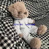 小熊公仔 紳士熊睡衣安撫玩偶兒童毛絨玩具領結泰迪生日禮物【樹可雜貨鋪】