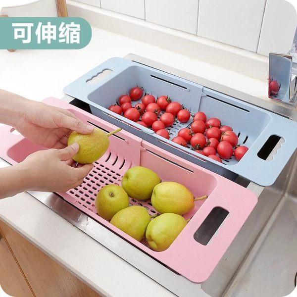 可伸縮水槽瀝水架家用廚房碗碟架蔬菜收納架放碗筷置物架子