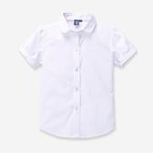 女童白襯衫短袖兒童純棉白色襯衣中大童小學生校服表演出服夏新款