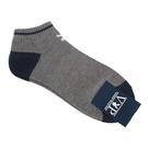 PLAYBOY簡約兔LOGO休閒船型短襪(灰色)980121-2