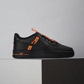 Nike Air Force 1 LV8 KSA (GS) 女大童 黑橘 經典 簡約 休閒鞋 CT4683-001