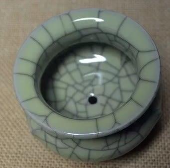 [協貿國際]  清澈精緻特色青瓷鋼筋爐 (1入)
