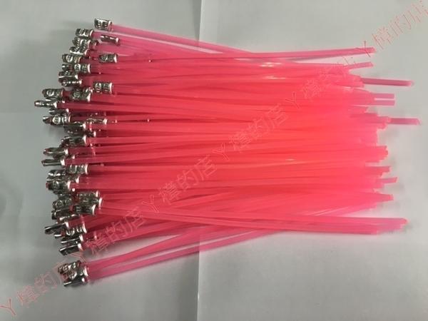 (粉紅色)割草機 除草機 專用割草繩 牛筋繩 牛筋條加強版 超耐磨 每包100條 線徑:3.2mm