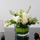 假花玫瑰花仿真花客廳擺設餐桌花藝茶幾擺件絹花繡球花裝飾品花束 麥琪精品屋