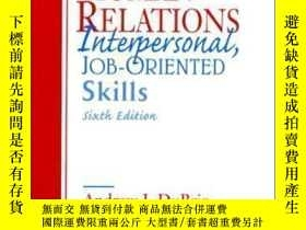 二手書博民逛書店Human罕見Relations: Interpersonal Job Oriented-skills-人際關系: