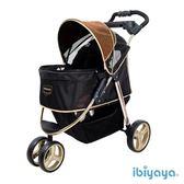 [寵樂子]《IBIYAYA依比呀呀》尊爵號鋁合金寵物推車 FS1616-G(奢華金)