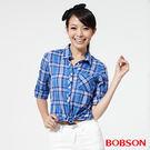 BOBSON 女款格子襯衫    (25137-58)