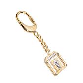 BALLY經典LOGO箭頭造形鑰匙圈吊飾(金色) 090156