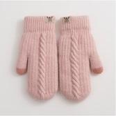 手套女冬天可愛加絨韓版連指兔毛加厚冬季棉 - 風尚3C