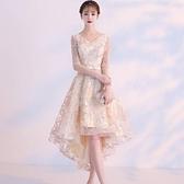 禮服 小晚禮服女簡單大方宴會高貴優雅氣質名媛中長款連衣裙平時可穿夏