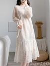 熱賣蕾絲洋裝 女裝秋季溫柔垂感仙女內搭氣質蕾絲連身裙中長款加厚打底長袖裙子 suger