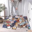 創意卡通入戶門墊門口可裁剪兒童爬行地毯防滑防水腳墊【淘嘟嘟】