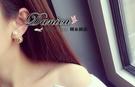 耳環 現貨 韓國連線 熱賣氣質甜美 簍空滿鑽珍珠 雙面 2用耳環 S90498 批發價 Danica 韓系飾品
