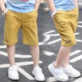 男童短褲2018夏裝新款兒童中褲中大童五分褲男孩純棉七分褲子童裝   米娜小鋪