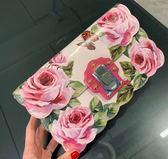 ★專櫃52折! Dolce&Gabbana BB6358 玫瑰花園印花小牛皮翻蓋肩背手拿 2用包