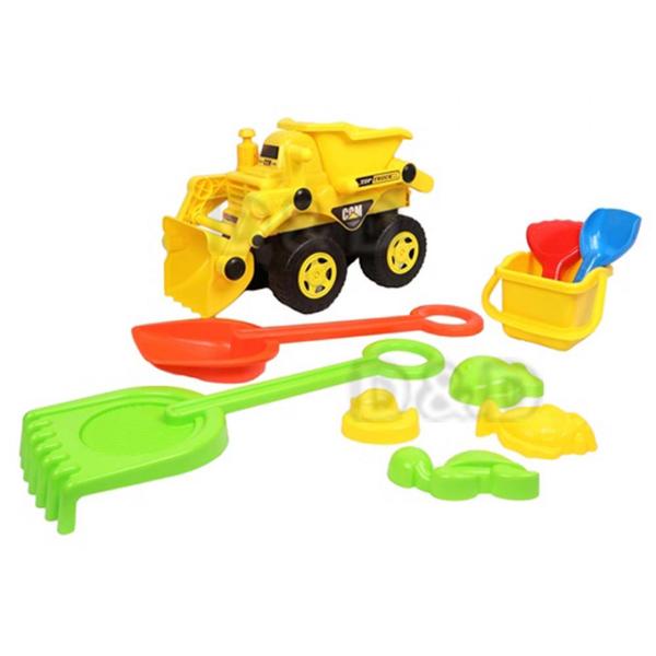 《 KIDMATE 》10pcs推土沙灘組 / JOYBUS玩具百貨