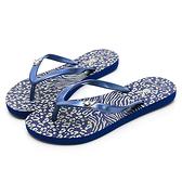 PLAYBOY 個性動物紋夾腳拖鞋-藍(YT512)