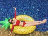 充氣泳圈 菠蘿游泳圈成人水上浮排充氣坐騎甜甜圈浮床泳圈igo 卡菲婭