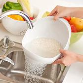 日本廚房淘米盆洗米篩家用淘米器加厚塑料洗菜籃蔬菜瀝水籃水果盤 艾尚旗艦店