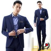 極品西服 品味展現羊毛格紋西裝外套_深藍 (AS705-3G)