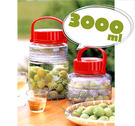 通販屋-日本製ADERIA梅酒水果酒醃漬發酵抗UV玻璃瓶儲藏罐3公升827913