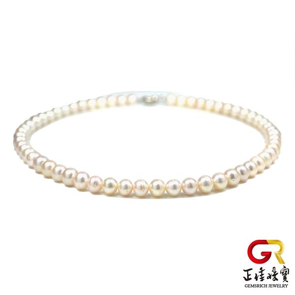 天然淡水珍珠項鍊 高光潤澤8mm 珍珠項鍊 頂級珍珠項鍊 正佳珠寶