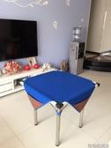 家用墊子手搓加厚消音麻將毯子桌布帶兜麻將墊正方形麻將桌布 交換禮物